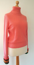 Paul Smith Mainline 100% Cashmere Coral Stripe Cuff Roll Neck Slouchy Jumper (L)