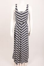 453d9713b62 Gap Women s Maxi Dress Tank XS Striped Navy Blue Long Stretch Sleeveless  Tank