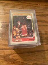 1988-89 Fleer Basketball Set w/Stickers -minus 6 (Mj #7 #17, Pippen & Miller)