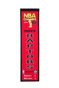 TORONTO RAPTORS 2019 NBA CHAMPIONS HERITAGE BANNER SHIPS FROM CANADA