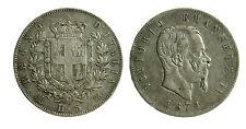 pcc2025_1) VITTORIO EMANUELE II (1861-1878) Scudo da 5 LIRE  1874