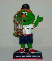 WALLY GREEN MONSTER Red Sox Mascot Bobble Head 2018 Champs Trophy Edition New*