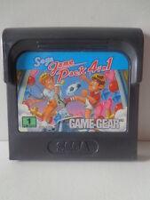 Game Gear juego-Sega Game Pack tenis, soccer, Columns, rally 4in1 (módulo)