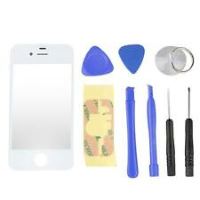 White Front Screen Glass Lens Replacement + 8 Tools for iPhone 4G 4 4th