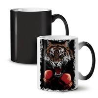 Tiger Boxer Gloves NEW Colour Changing Tea Coffee Mug 11 oz | Wellcoda