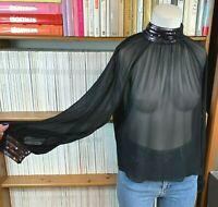 OTHER STORIES LA Atelier Top 38 UK 12 10 US 8 6 Black Sheer Sequin Collar