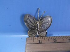"""Gold Tone Butterfly 2""""in Length Pin/Brooch also has Clasp to add Chain"""