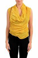 Maison Margiela 4 Women's Silk Mustard Embroidered Bodysuit Top US S IT 40