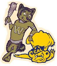 University  Washington Huskies BEAT CAL  Vintage Looking Travel Decal Sticker