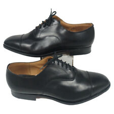 Churchs Custom Grade Consul Black Oxford Shoes Made in England US 12 Wide UK 11G