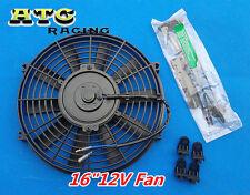 "16"" INCH UNIVERSAL SLIM PUSH PULL ELECTRIC RADIATOR COOLING FAN + MOUNTING KIT"