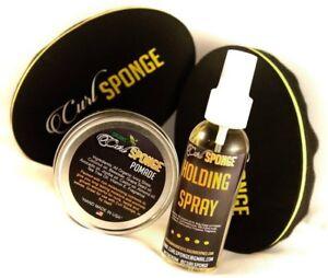 Curl Sponge 2.0&3.0- Natural Pomade - Holding Spray - Gift Set Hair Care Kit 4pc