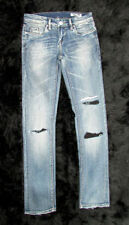 Low Slim, Skinny Distressed Wash 33 Inseam Jeans for Women