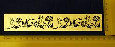 Border * Bird * Flight * Floral * Flower * Stencil * Metal * emboss *