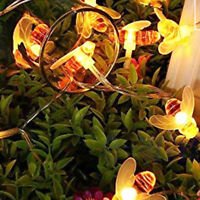 20/30 LED Solar Honey Bee Fairy String Lights Garden Outdoor Party Lamps 1.2V YT