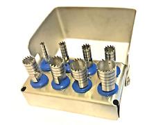 Dental Trephine Drill Kit 8 Pcs Surgical Bur Holder Bone Graft Implant Surgery