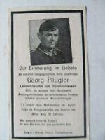 RARE WWII German Death Card, KIA Near Berlin in April 1945, Last Days of War