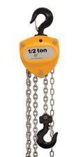 R&M Rm500 Manual Hand Chain Hoist 1/2 Ton Cap.10 Foot Lift