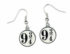 Harry Potter Silver Plated Platform 9 3/4 Earrings