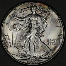 1945 Walking Liberty Half Dollar 50C - Gem Uncirculated - Colorful Toning