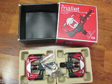CRANK BROTHERS MALLET DH RACE PEDALS CLEATS WITH HARDWARE RED