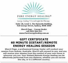 60 Minute Distant/Remote Energy Healing Session GIFT CERTIFICATE