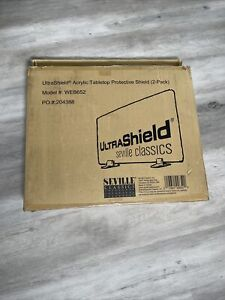 Seville Classics UltraShield Table Top Shield, 2-pack - Open Box Unused