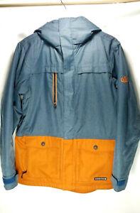 686 Authentic Series Blue/Orange Snowboard Jacket 10k infiDry Mens Sz Sm RN99204