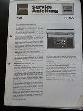 ORIGINALI service manual Grundig RR 800