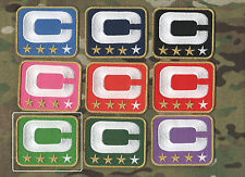 NFL TEAM LEADER JERSEY CAPTAINS PATCH THREE-STAR LIGHT GREEN CAPTAINS C-PATCH