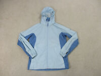 Columbia Jacket Womens Small Blue Outdoors Hooded Hoodie Full Zip Ladies B66*