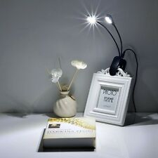 Clip-On Bed Reading Book Light USB Charge Lamp Desk Table Light 8 LED Dimmable