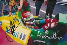 EMANUELE PIRRO HAND SIGNED BENETTON F1 6X4 PHOTO 2.