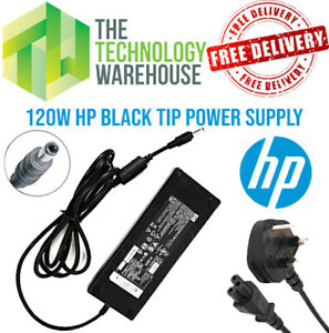 Genuine HP 120w Charger PSU - 18.5V 6.5A - 5.5*2.5mm Tip + Optional Power Cable