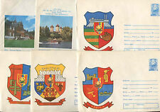 Romania 1976, 6 Arms Unused Stationery Pre-Paid Envelopes Covers #C21409