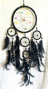 Funky New Dreamcatcher, Black with coloured beads, comes in 3 great colours