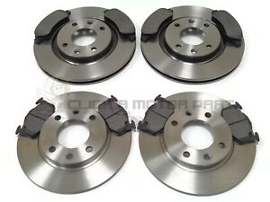 PEUGEOT 206 CC 1.6 2.0 2002-2007 FRONT AND REAR BRAKE DISCS & PADS SET NEW