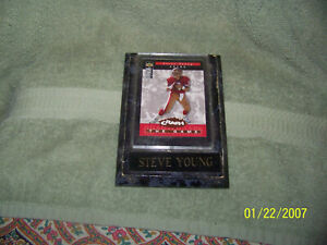 very cool sports card wall plaque football {steve young}