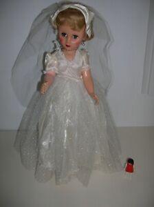 "POUPEE AMERICAINE mariée MODE type REVLON 48 cm an. 60 vintage fashion doll 19"""