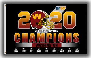 Washington Football Team NFC East Division Champions Flag 90x150cm 3x5ft Banner!