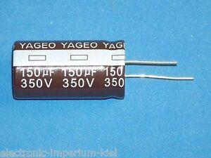 Elko , Radial, 150µF (150uF) / 350V / 105°C ,1 Pièces (Ø22x40mm)