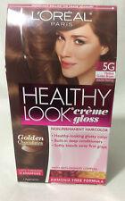 L'Oreal Healthy Look Gloss Hair Color Medium Golden Brown Golden Truffle 5G