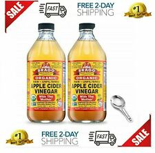 Bragg Organic Raw Apple Cider Vinegar with The Mother Promotes Weight Loss - NEW