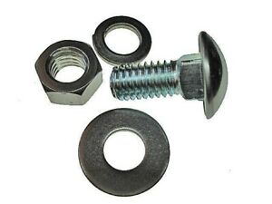 Fits Pontiac Buick Chevy 7/16-14 x1 round head bumper bolts bolt