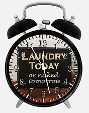 "Laundry Room Alarm Desk Clock 3.75"" Home or Office Decor E429 Nice For Gift"