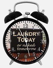 "Laundry Room Alarm Desk Clock 3.75"" Home or Office Decor E429 Nice For Gift"