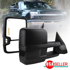Tow Mirrors for 03-06 Chevy Silverado Sierra Power Heated Smoke Signal Backup