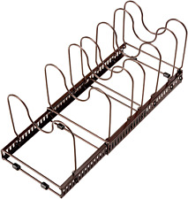 New listing 7 Compartment Expandable and Adjustable Pan/Lid Organizer Rack