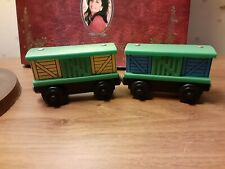 Thomas and friends Wooden wood Box Cars with sliding doors