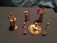 Assorted Miniature Brass Dollhouse Style Decor Very Cool!